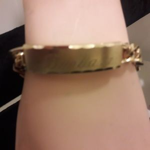Jewelry - Gold tone vintage I D braclet with name Barbara
